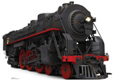 Black and Red Steam Train Standup Cardboard Cutouts