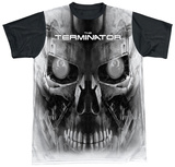 Terminator - Endoskeleton Face Black Back T-Shirt