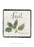 Burlap Herbs V Poster by Grace Popp