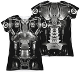 Juniors: Terminator - Endoskeleton Costume (Front - Back Print) T-shirts