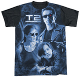 Terminator 2 - Protector And Hunter Black Back T-Shirt