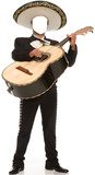 Mariachi Guitarron Stand In Cardboard Cutouts