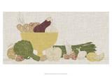 Contour Fruits & Veggies IV Prints by  Vision Studio