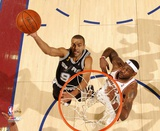 Tony Parker Game 3 of the 2007 NBA Finals Action Photo