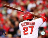 Vladimir Guerrero 2008 Batting Action Photo