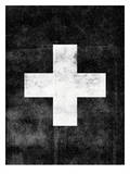 Swiss Cross on Black Posters par Brett Wilson