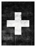 Swiss Cross on Black Posters by Brett Wilson