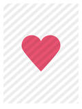 Pink Love Heart Print by Brett Wilson