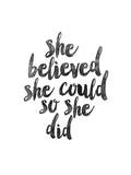She Believed She Could so she Did Poster by Brett Wilson