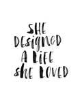 She Designed a Life She Loved BW Prints by Brett Wilson