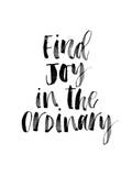 Find Joy in the Ordinary Poster by Brett Wilson