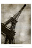 Vintage Eiffel II Print by Honey Malek