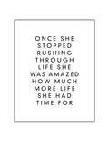 Once She Stopped Rushing Through Life Art by Brett Wilson