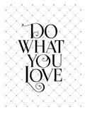 Do What You Love Fancy Poster