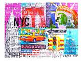 NYC Collage1 Posters by Marion Duschletta