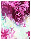 Falling Leaves Fuchsia, Urban Road Prints