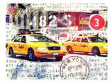 NYC Taxi Emboss Prints by Marion Duschletta