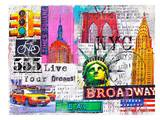 NYC 555 Print by Marion Duschletta