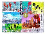 LA Collage Prints by Marion Duschletta