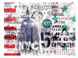 NYC never sleeps Poster by Marion Duschletta