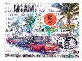 Miami Ocean Drive Prints by Marion Duschletta