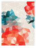 Geometric Coral, Urban Road Print
