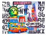 NYC Collage numbers Prints by Marion Duschletta