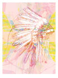 Indian War Bonnet Pink, Urban Road Prints