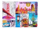 SanFrancisco Collage Prints by Marion Duschletta