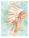 Indian War Bonnet Blue, Urban Road Prints