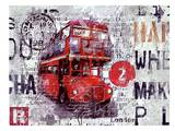 London Bus Prints by Marion Duschletta