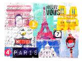 Paris Collage Posters by Marion Duschletta