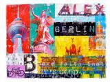 Berlin Emboss Posters by Marion Duschletta
