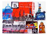 Hamburg Collage Posters by Marion Duschletta