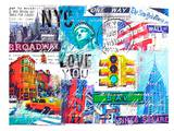 NYC Love You Print by Marion Duschletta