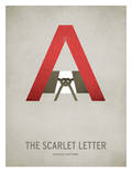 The Scarlet Letter Minimal Poster by Christian Jackson