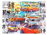 NYC Taxis Prints by Marion Duschletta