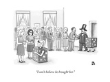 """I can't believe he brought her."" - New Yorker Cartoon Premium Giclee Print by Paul Noth"