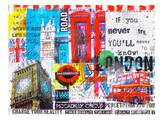 London Collage Art by Marion Duschletta