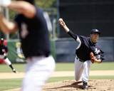 Masahiro Tanaka Pitches in Simulated Game Photo by Brian Blanco
