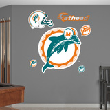 Miami Dolphins Classic Logo Wall Decal