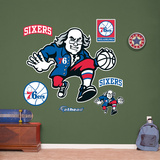 Philadelphia 76ers Ben Franklin Logo Wall Decal