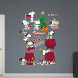 Snoopy Christmas Collection Wall Decal