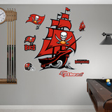 Tampa Bay Buccaneers Pirate Ship Logo Wall Decal