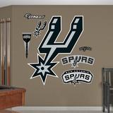 San Antonio Spurs Alternate Logo Wall Decal