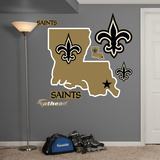 New Orleans Saints Louisiana Logo Wall Decal