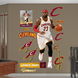 LeBron James- White Jersey Wall Decal
