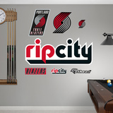 Portland Trail Blazers Rip City Logo Wall Decal