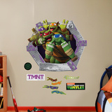 TMNT - Goofy Faces Collection Wall Decal
