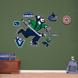 Vancouver Canucks Johnny Canuck Alternate Logo Wall Decal